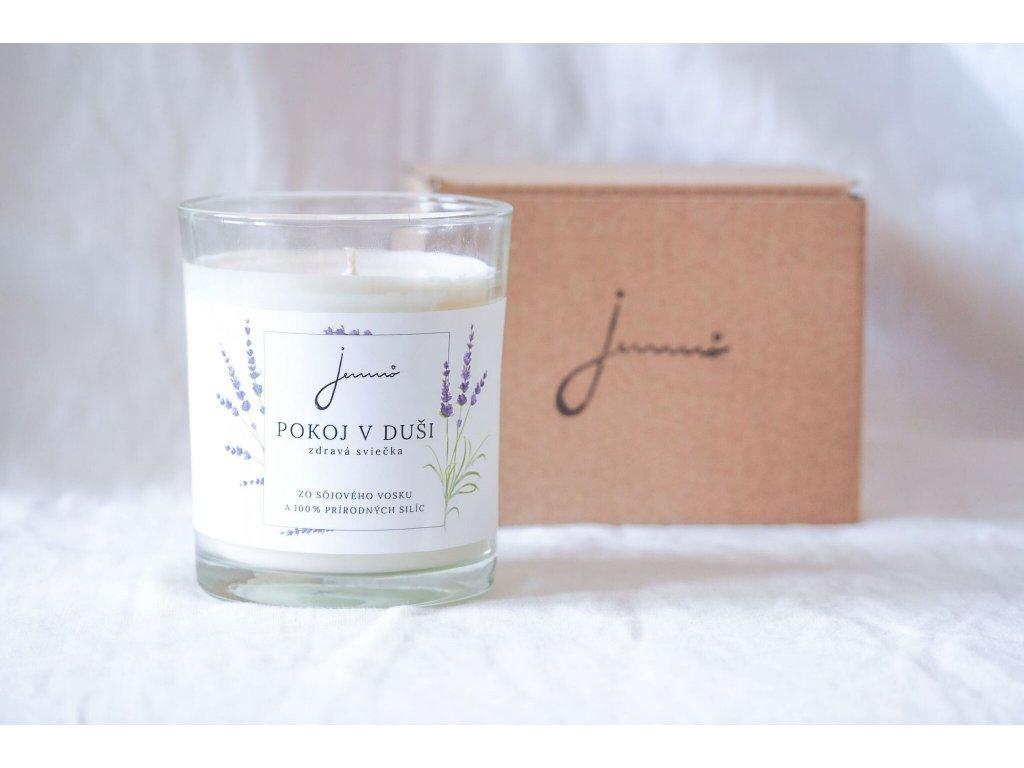 Pokoj v duši sójová sviečka Jemnô