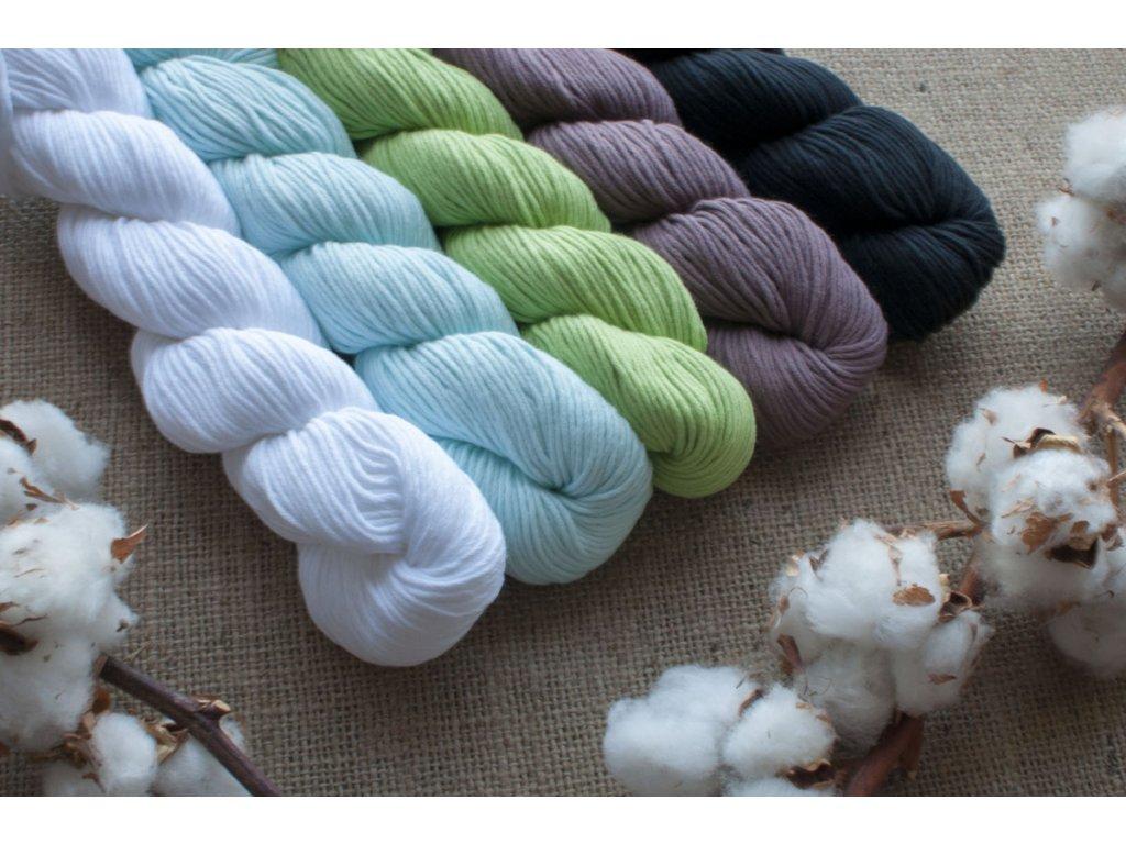 Organic Cotton Skinny 1 Blue Sky Fibers Biobavlnka sk