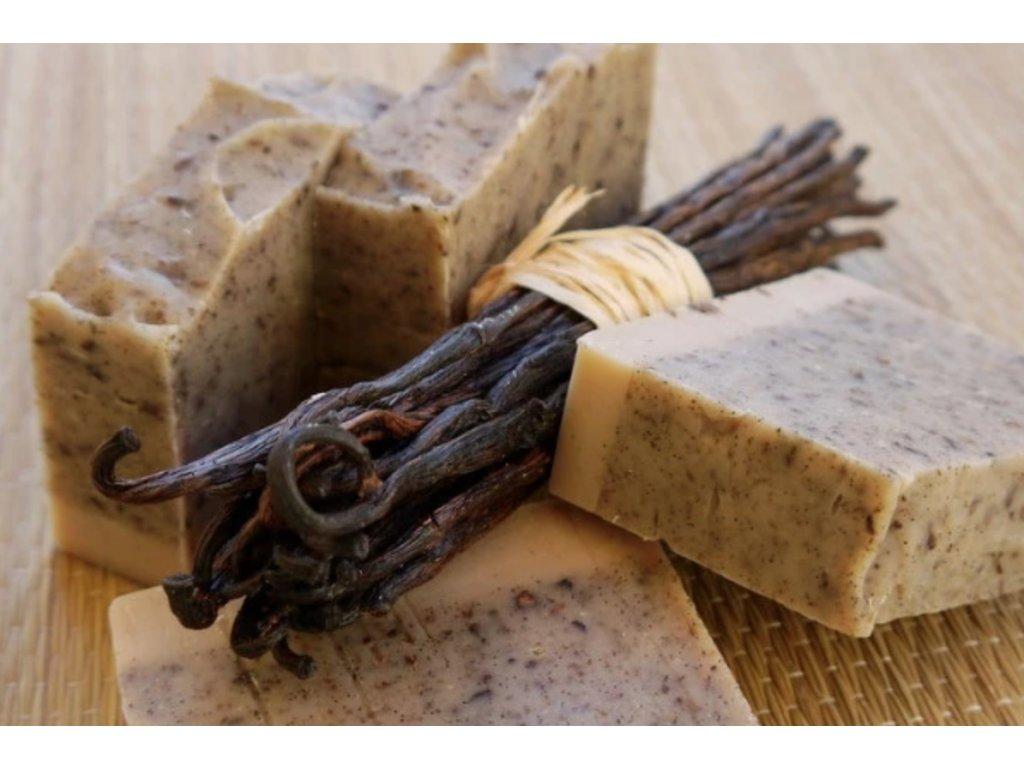 Vanilkové peelingové mydlo prírodné mydlo Ponio zivotbezodpadu