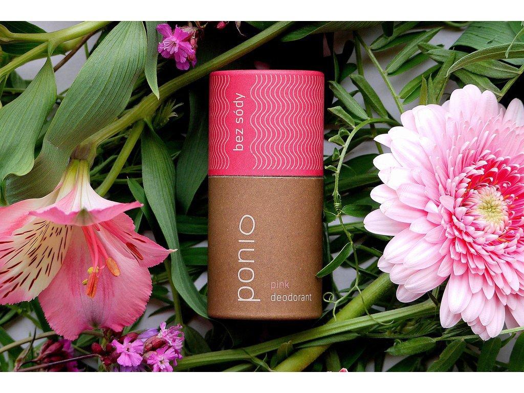 Pazúch Pink bez sódy : náplň unisex prírodný dezodorant Ponio 1
