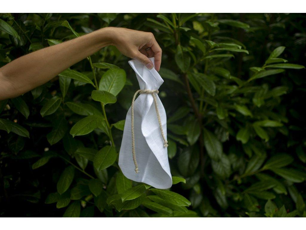 Ľanové vrecúško na bylinky pre ženskú bylinnú náparku Steamy 3