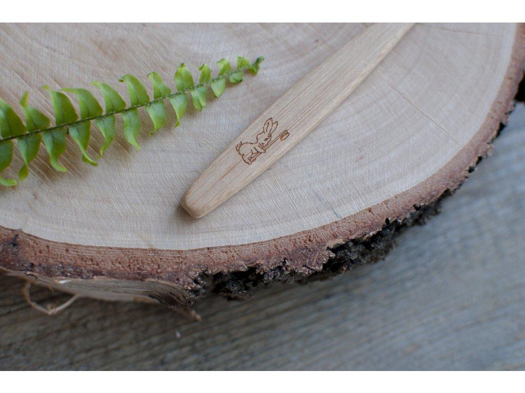 Bambusová zubná kefka JUNIOR - Curanatura