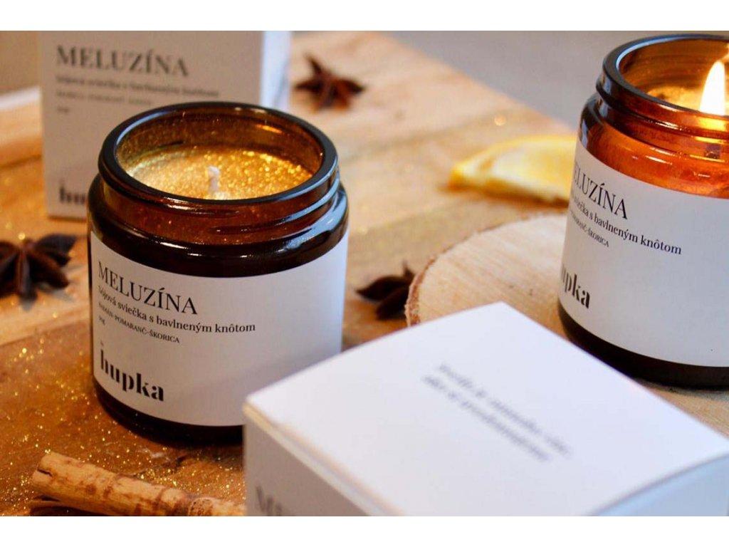 Sójová sviečka %22MELUZÍNA%22 1 Herbs by Hupka