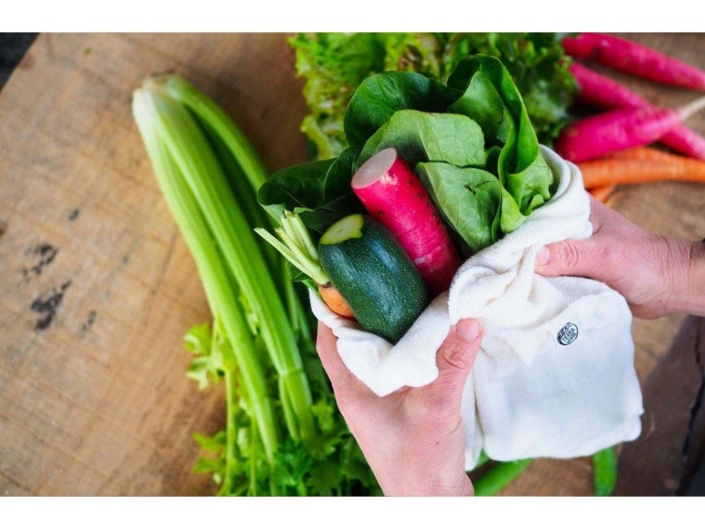 Vrecko na uchovanie zeleniny 0 z bambusu a biobavlny 1 CASA Organica Tierra Verde