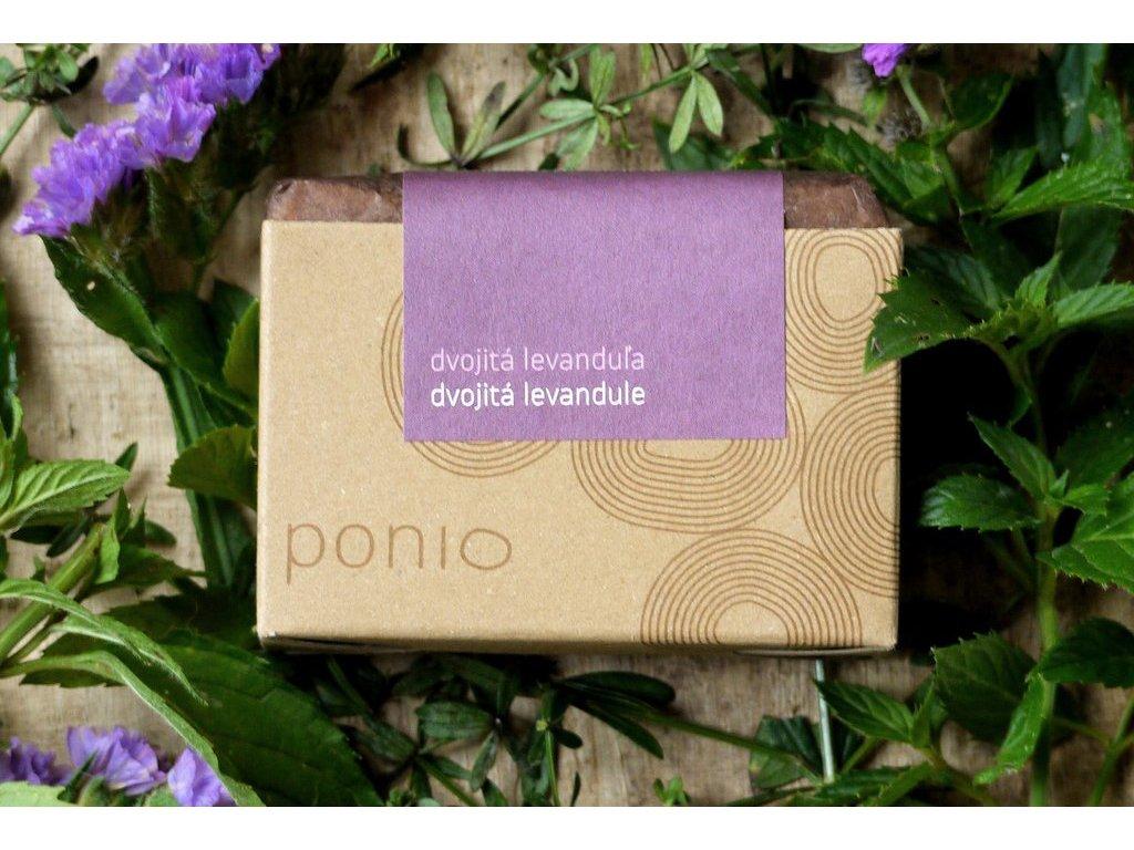 Dvojitá levanduľa bez kvetov prírodné mydlo Ponio 11