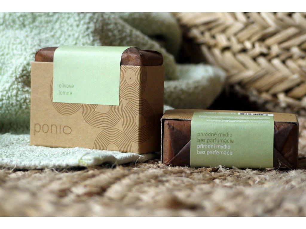 Olivové jemné mydlo prírodné mydlo Ponio 4
