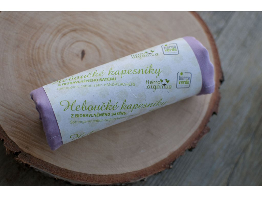 Dámske hebučké vreckovky z biobavlneného saténu orgován 6 ks CASA Organica Tierra Verde 3