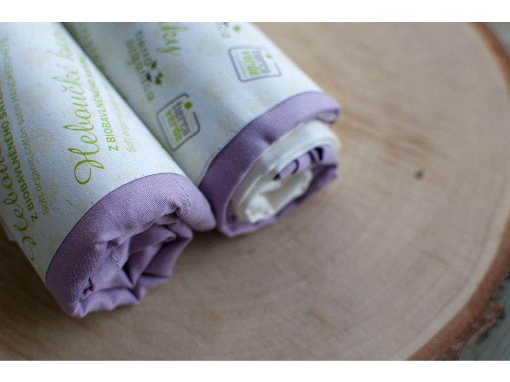 Dámske hebučké vreckovky z biobavlneného saténu - orgován 6 ks CASA Organica / Tierra Verde