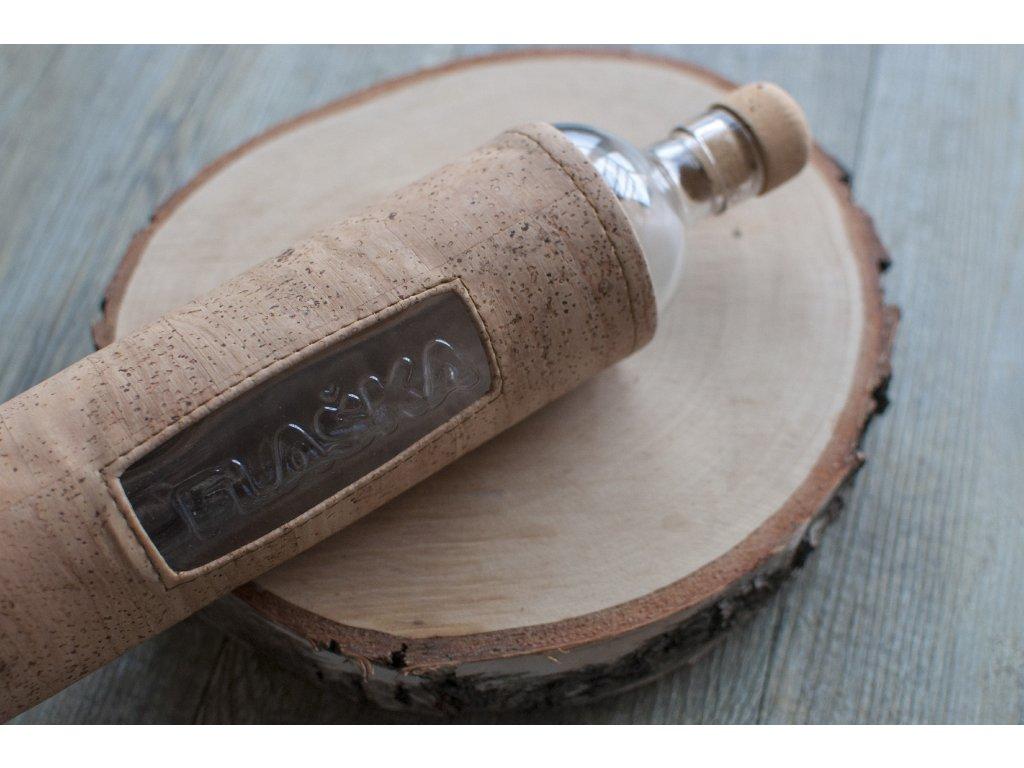 FLAŠKA Natural Cork 0,5 l sklenená fľaša v korkovom obale 1