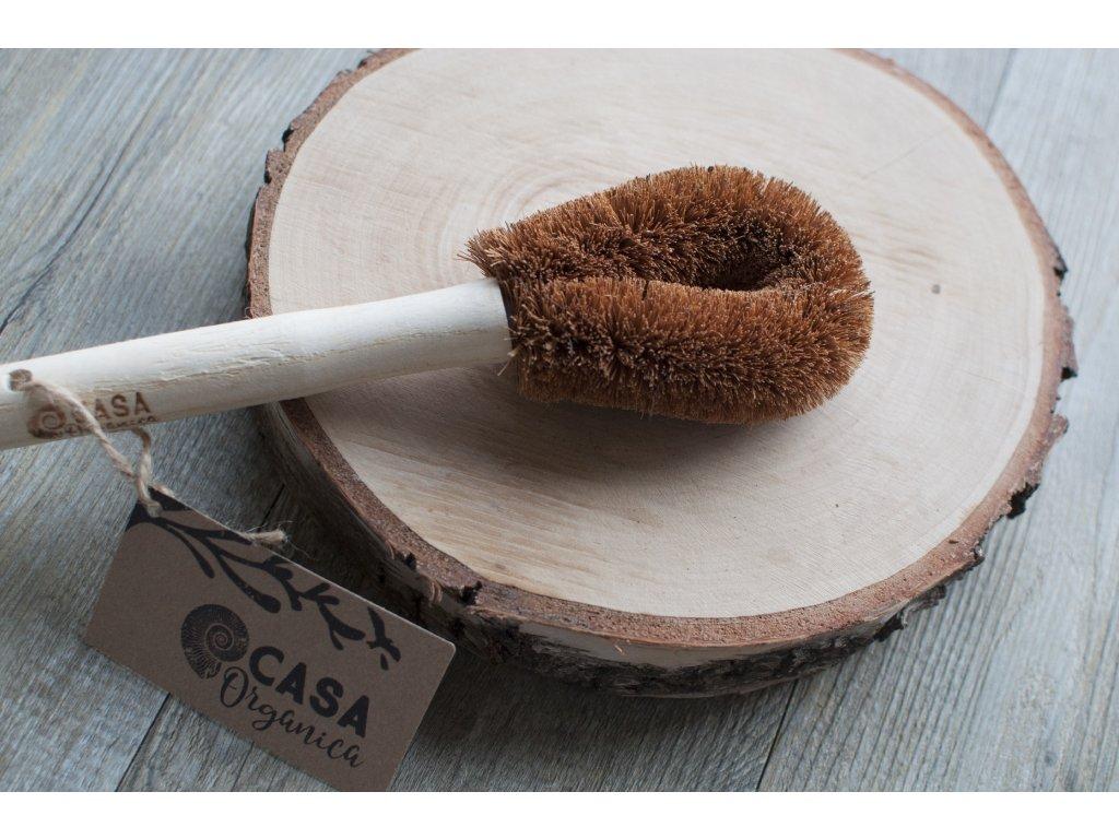 Kokosová kefa na zeleninu a riad s madlom 1