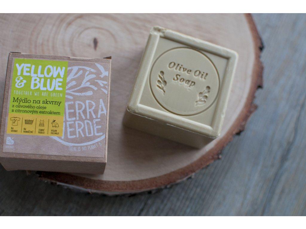 Olivové mydlo s citrónovým extraktom Yellow & Blue Tierra Verde