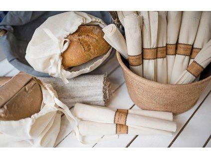 Nákupné vrecko bavlnené VRECKO NA CHLIEB