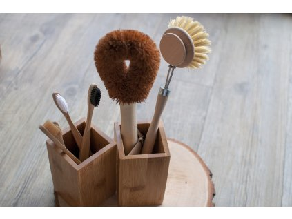 Bambusový stojan na zubné kefky či kefu na riad TimeLife 9