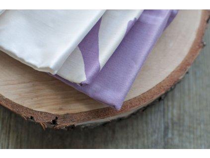 Dámske vreckovky z biobavlneného saténu mix (natural orgován) 6 ks CASA Organica Tierra Verde 1