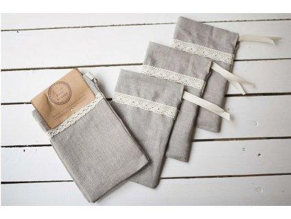 Ľanové mini vrecká (20 x 13 cm) 3 ks Vrecko na chlieb 12