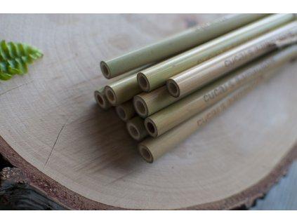 Bambusové slamky bez obalu (10 ks) Mobake 2