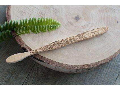 Bambusová zubná kefka Extra Soft s moravským vzorom Mobake 2