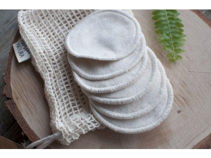 Odličovacie tampóny z biobavlny (6 ks malých) vo vrecúšku MAMA NATURA Tierra Verde 10