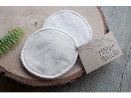 Odličovacie tampóny z biobavlneného zamatu a froté (2 ks veľké) MAMA NATURA Tierra Verde 5