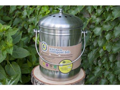 Kuchynský kôš na bioodpad nerezový (5 l) Kitchen Craft 1