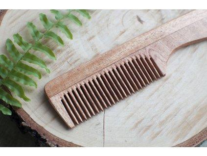 Hrebeň z nimbového dreva s rukoväťou MAMA NATURA Tierra Verde 3