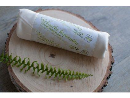 Dámske hebučké vreckovky z biobavlneného saténu - natural 6 ks CASA Organica / Tierra Verde