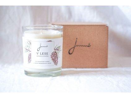 V lese sójová sviečka Jemnô