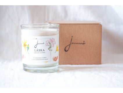 Láska sójová sviečka Jemnô