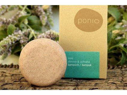 Šampúch Mint obnova & ochrana tuhý šampón Ponio 3