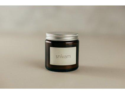Snívam sójová sviečka v tmavom skle Jemnô