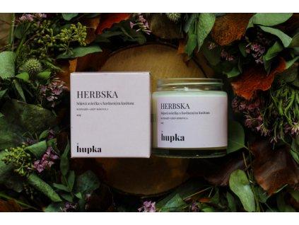 Sójová sviečka %22HERBSKA%22 Herbs by Hupka 1