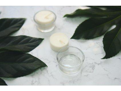 Bezodpadová čajová sviečka bez obalu - Jemnô