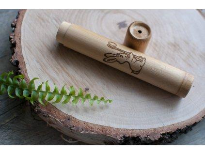 Bambusové cestovné puzdro na detskú zubnú kefku JUNIOR - Curanatura