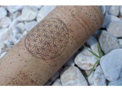 FLAŠKA Spiritual Flower of life sklenená fľaša v korkovom obale 2