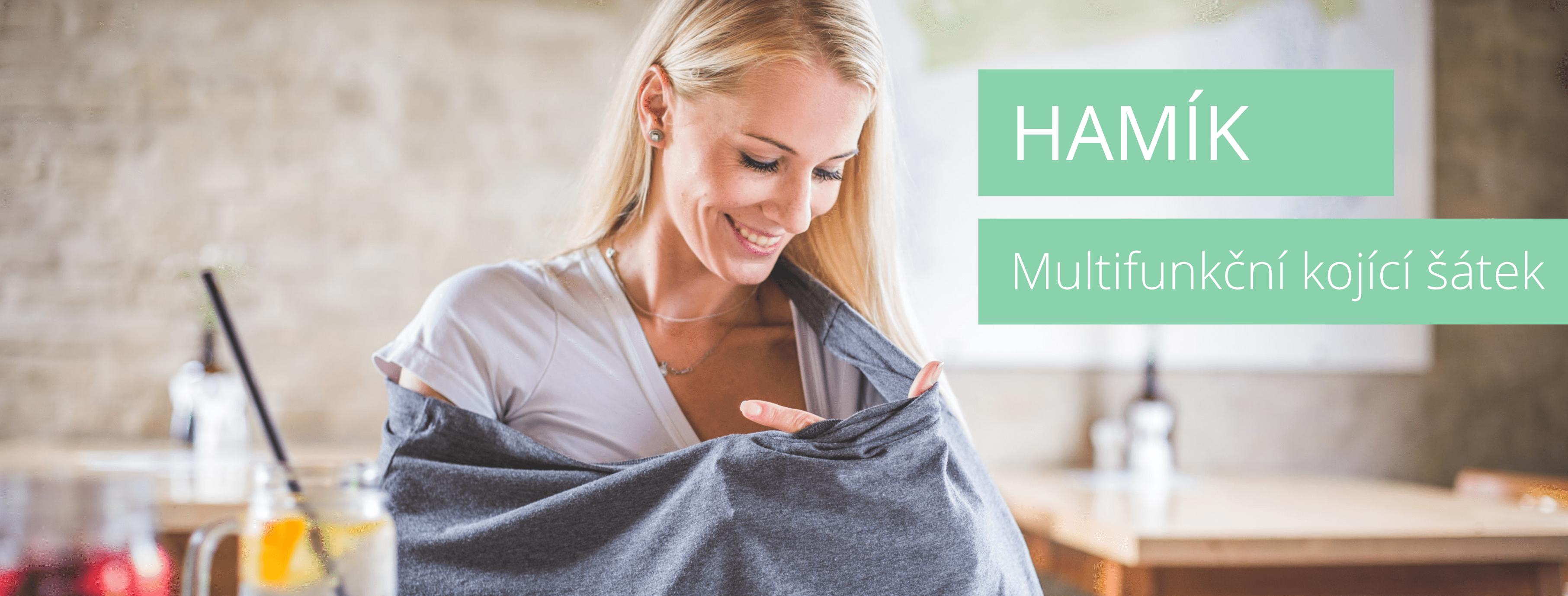 Hamík - multifunkční kojící šátek