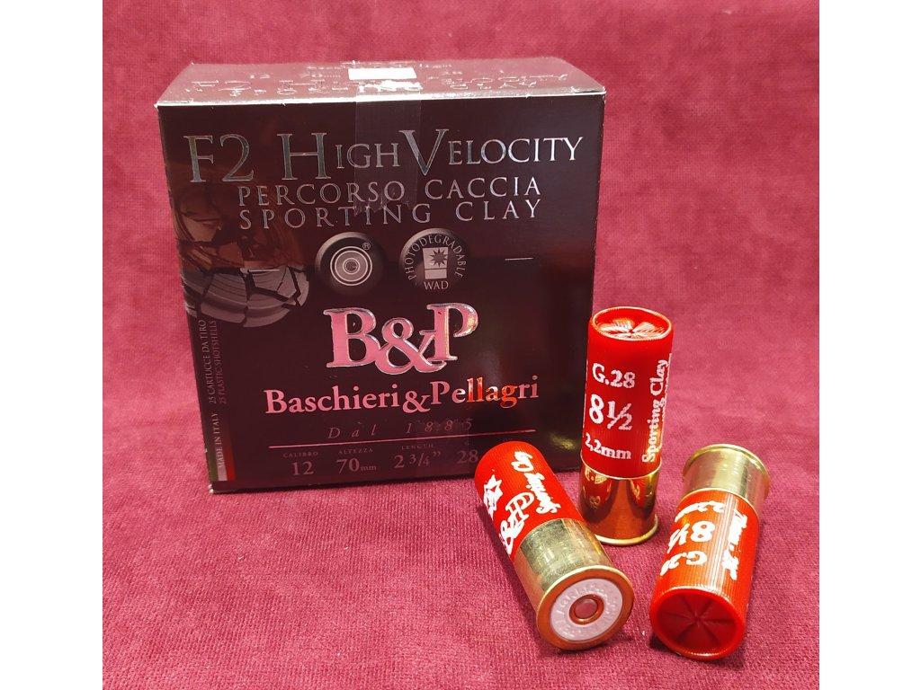 B&P 12/70 F2 HV Sporting 2,2mm (8,5), 28g