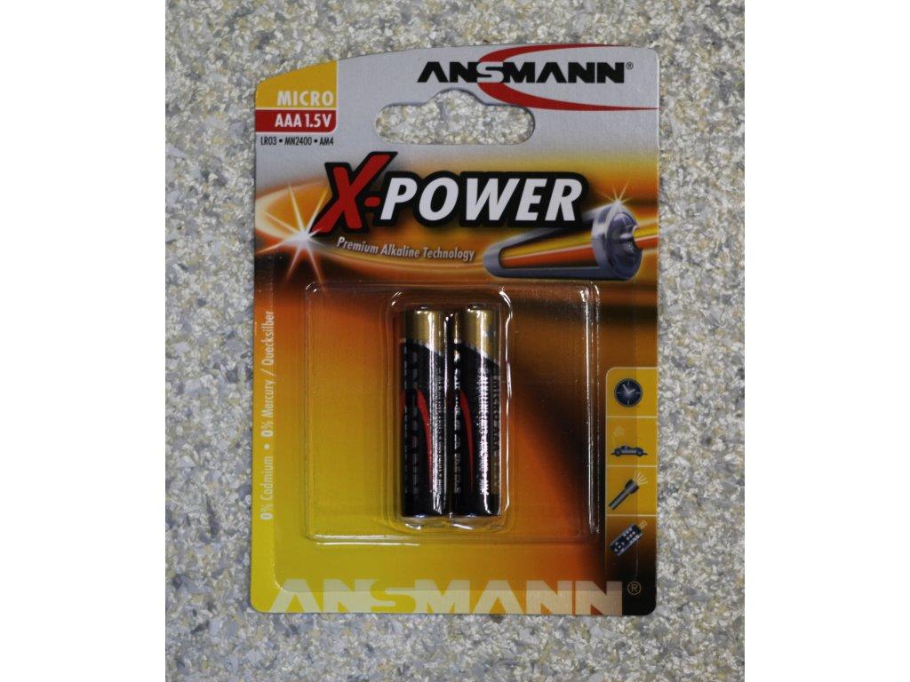 Baterie Mikrotužková AAA 1,5V Alkalická