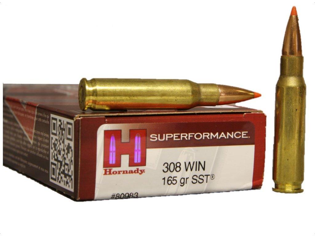 Náboj kulový Hornady 308 Win  Superformance 10,7g (165gr) SST
