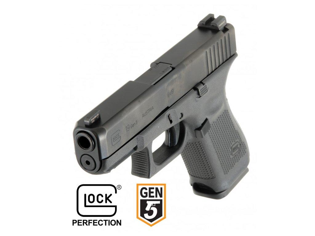 pistole Glock 19 gen.5, r.9mm Lug.