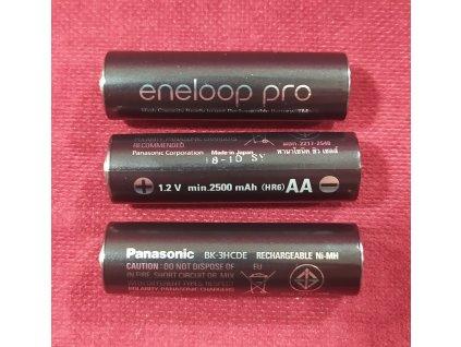 Tužková baterie dobíjecí AA NiMH Eneloop pro, 2500 mAh