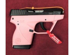 """Pistole Taurus r.9mm Brow., mod.PT-738 TCP, 3,3"""", růžový rám"""