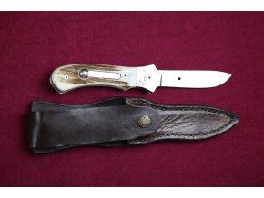 Nůž x pilka revolver.systém, střenka paroh