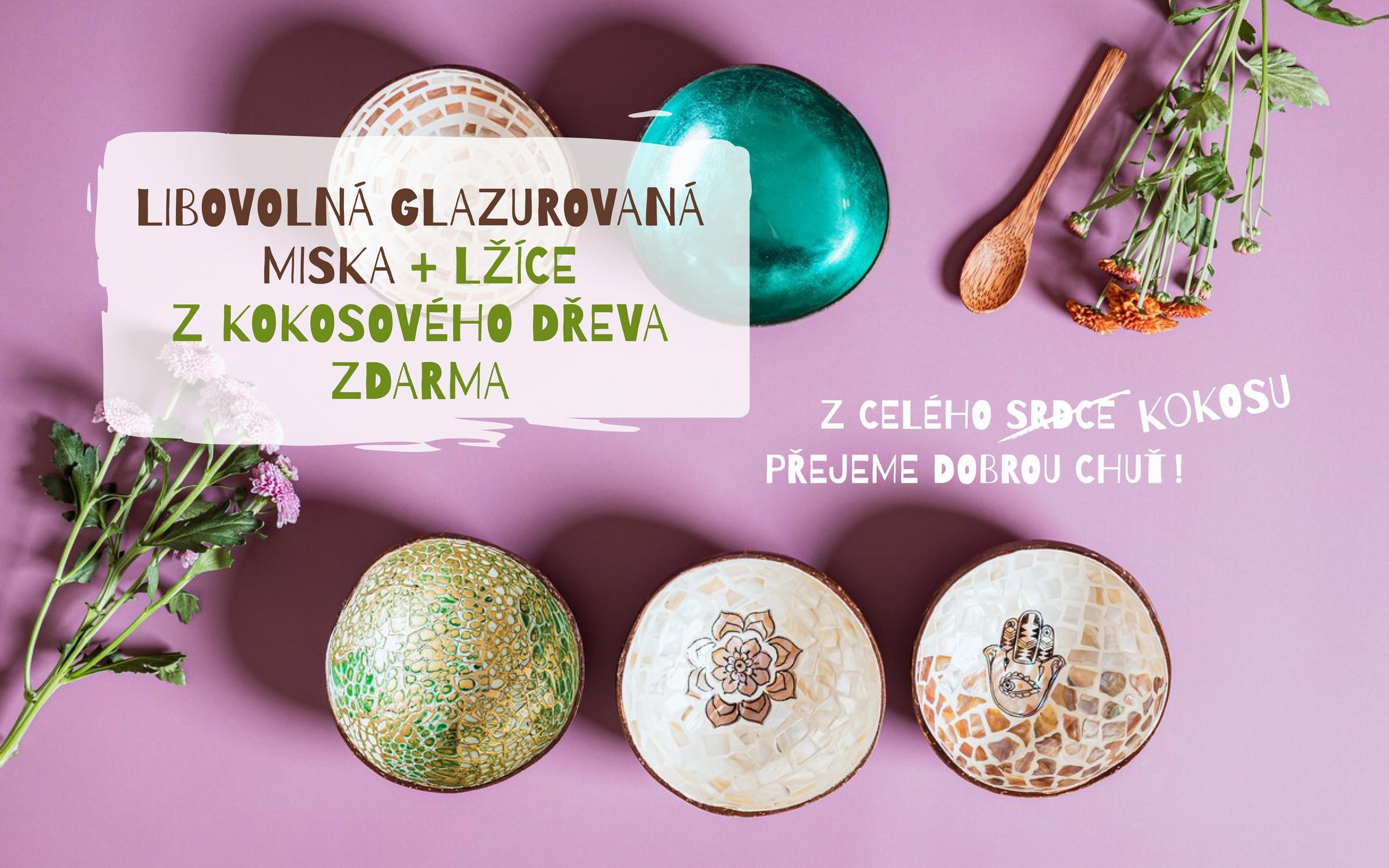 Glazurovaná miska + lžíce ZDARMA