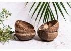 Vyřezávané kokosové misky