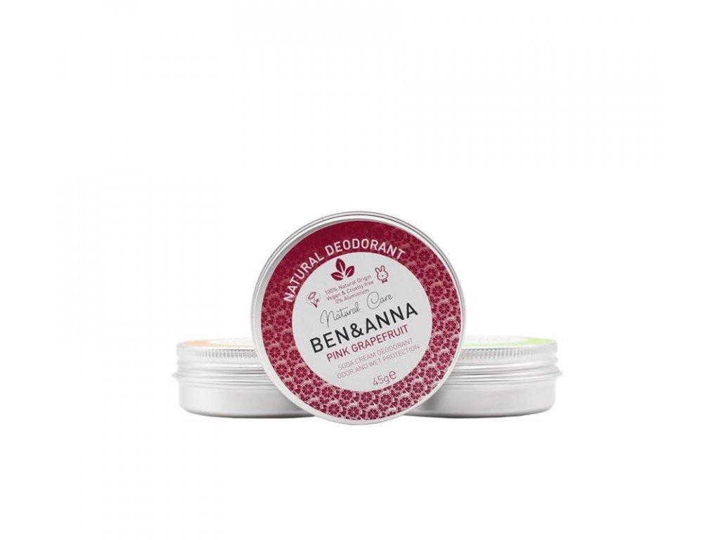 ben a anna přírodní krémový deodorant růžový grapefruit