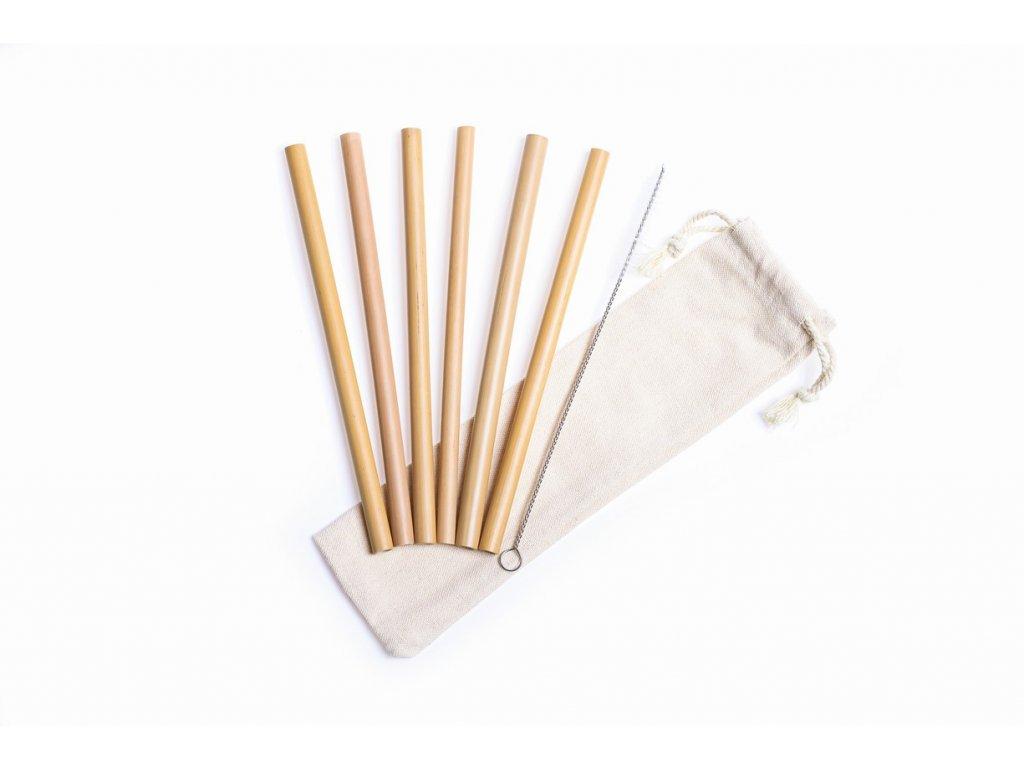 zkokosu bambusová brčka