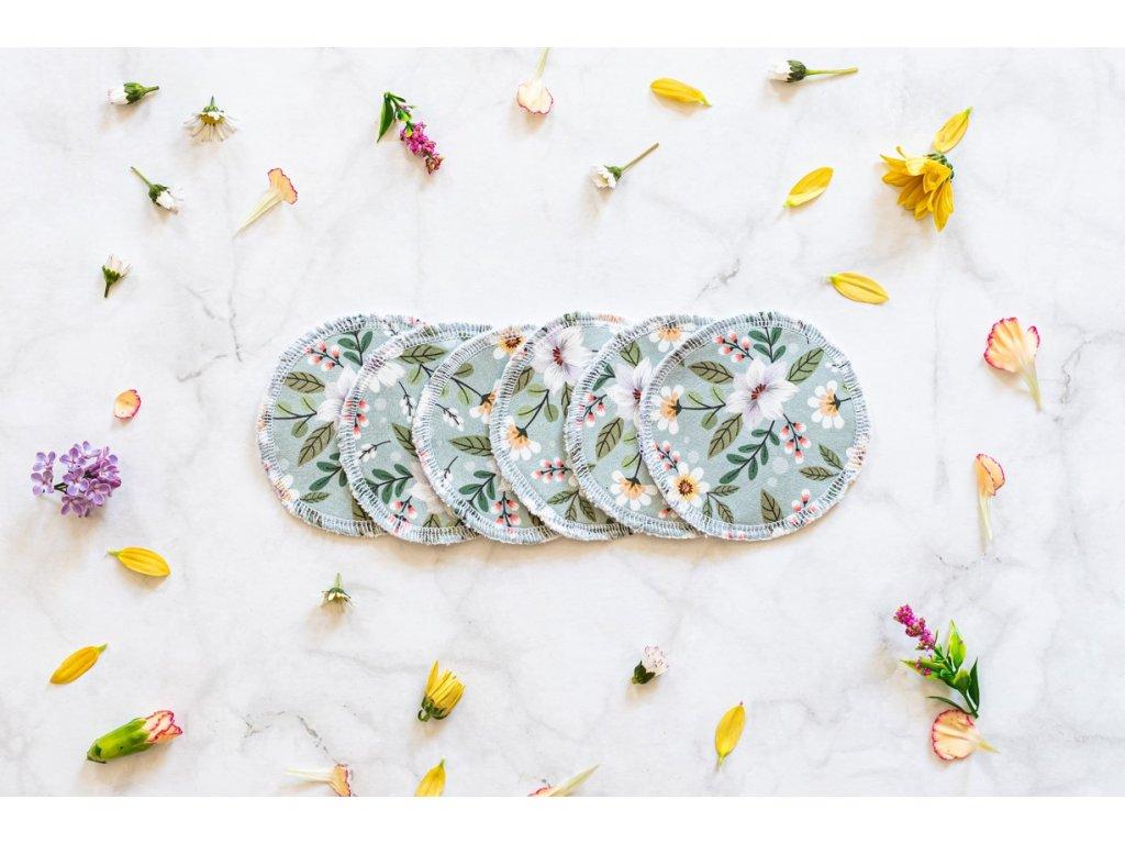 zkokosu bavlnene odlicovaci tamponky spring 6 ks