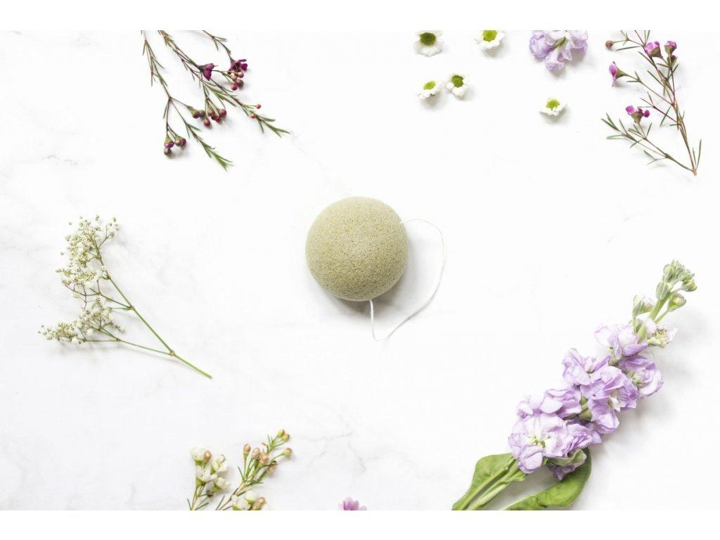 zKokosu konjaková houbička zelený čaj