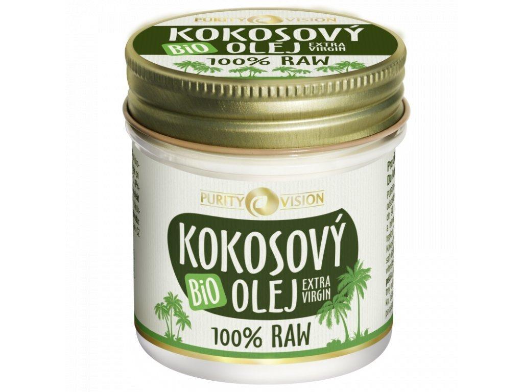 purity vision kokosovy olej raw bio 120 ml