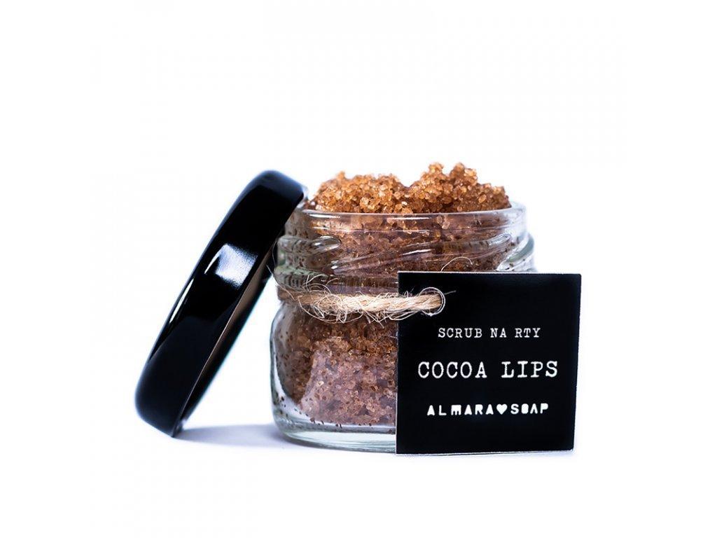 Almara soap scrub na rty cocoa lips